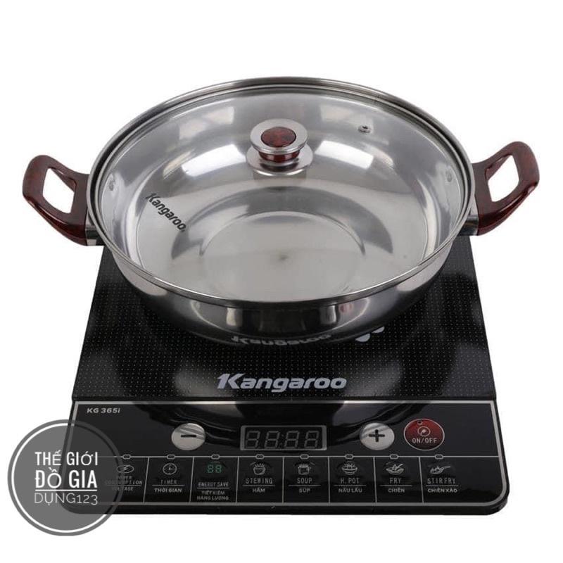 [FREESHIP] Bếp từ Kangaroo 365i tặng kèm nồi inox cao cấp