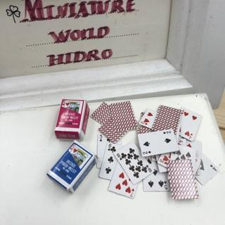 Bộ bài Tây poker siêu mini tí hon. Mô hình bộ bài Tây poker
