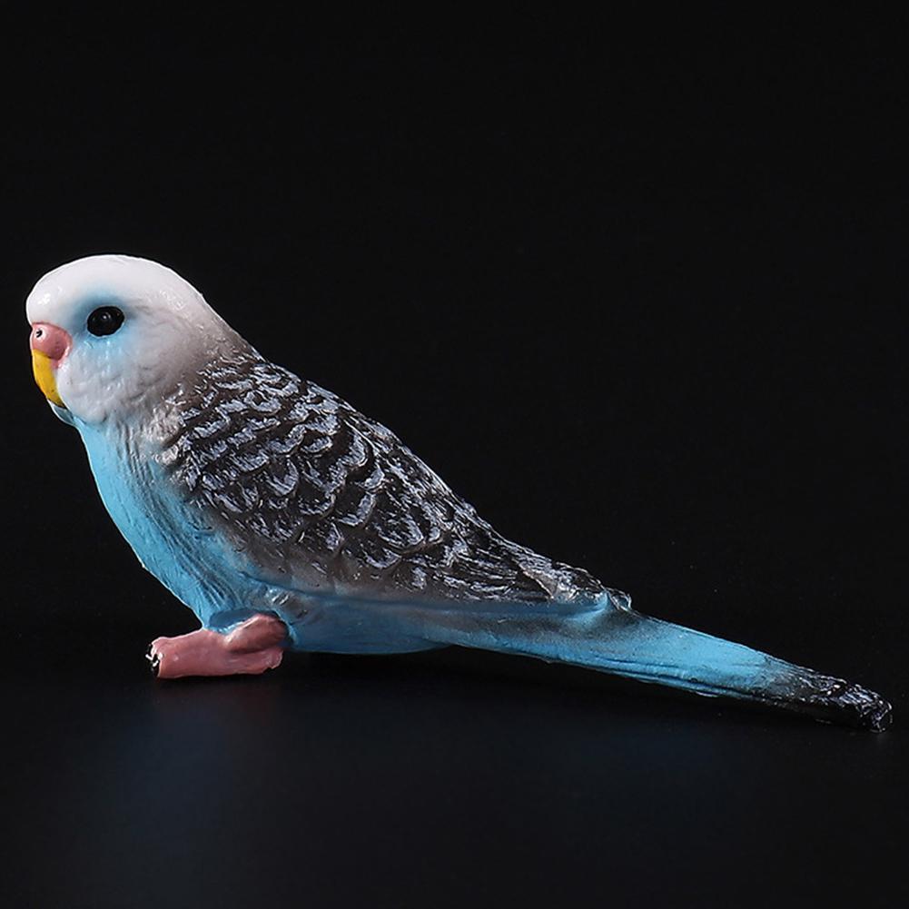 Simulation Mini Parrot Cute Bird Figurine Animal Model Home Decor Miniature Fairy Garden Decoration