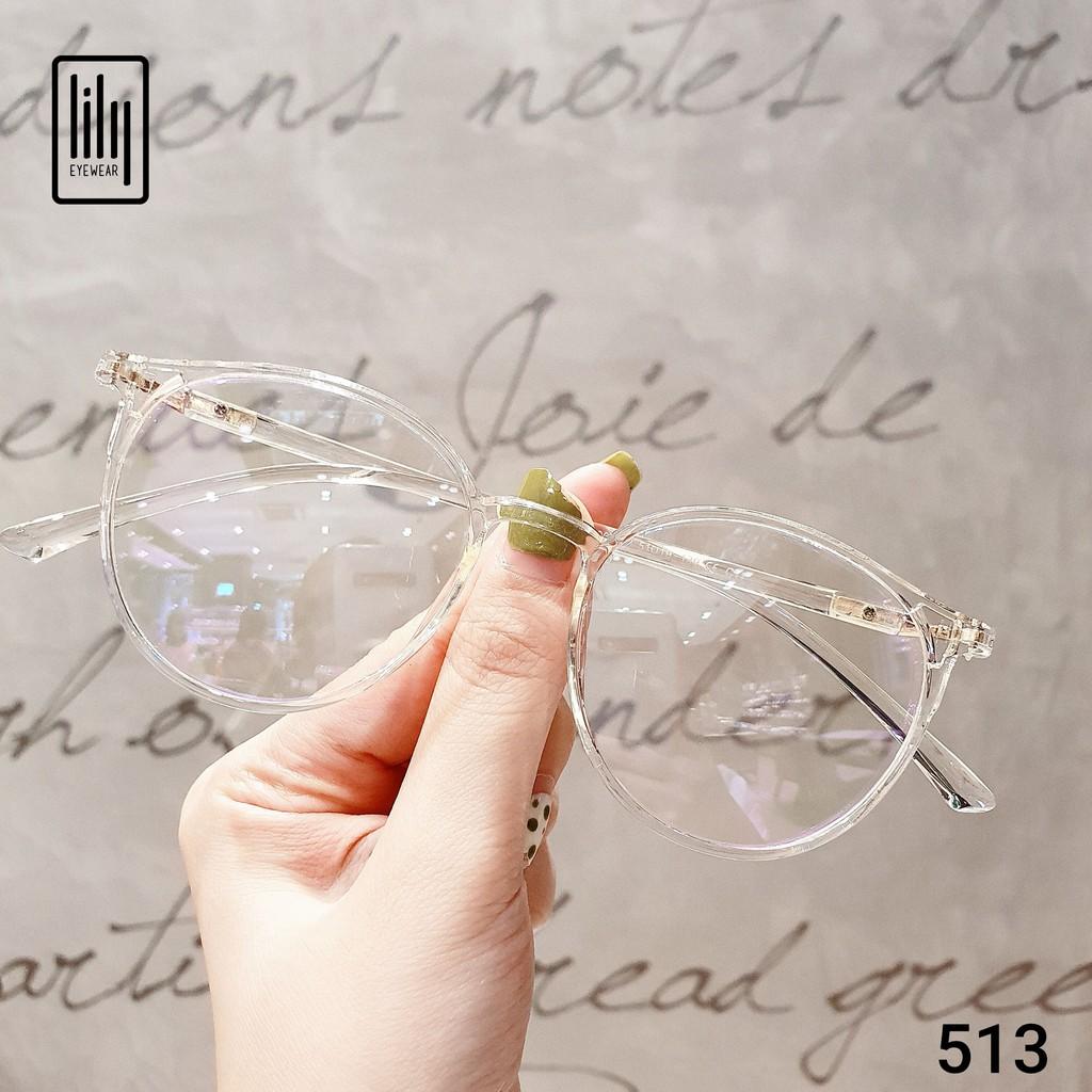 Gọng kính mắt tròn nam nữ Lilyeyewear chất liệu nhựa dẻo thanh mảnh nhẹ nhàng 513