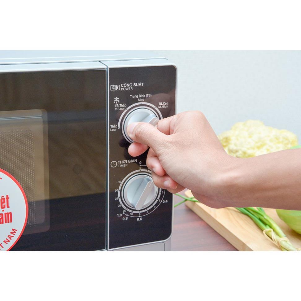 Lò vi sóng Sharp R-205VN(S) 20 lít nấu, hâm nóng, rã đông (Hàng trưng bày)  - Lò vi sóng