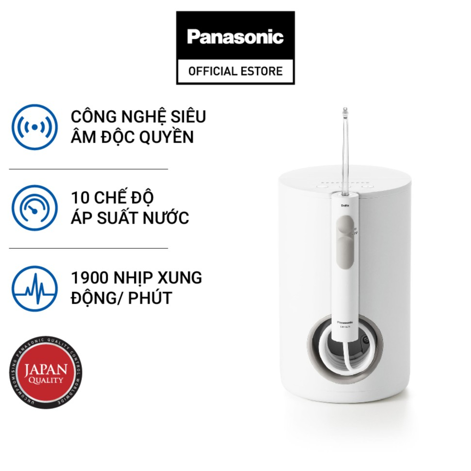 [Mã ELMALLAPR2 giảm 4% đơn 3TR] Máy Tăm Nước Cầm Tay Panasonic Công Nghệ Siêu Âm EW1611W451