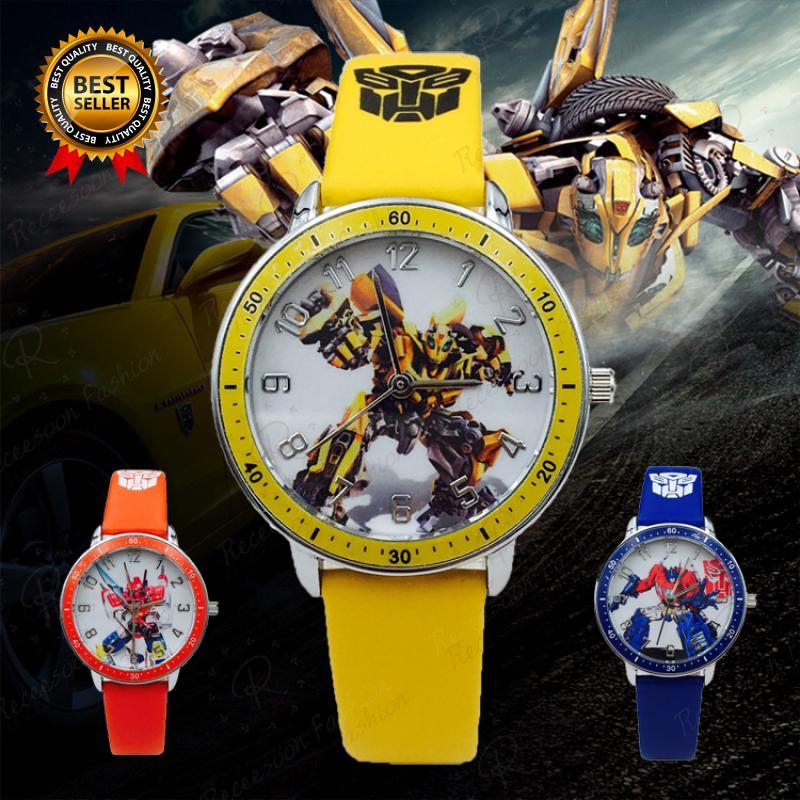 Đồng hồ quartz mặt tròn họa tiết phim robot Optimus Prime thumbnail
