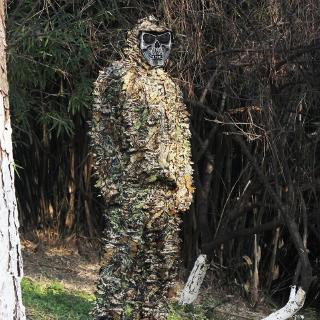 Hunting Ghillie Outerwear 3D Camo Bionic Leaf Camouflage Jungle Bird Watching Woodland Manteau