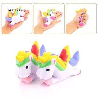 ღNK_13.5cm Cute Squishy Pegasus Toy Squeeze Relieve Stress Slow Rising Kid Gift