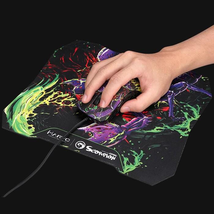 Chuột game 6D cao cấp Marvo G932 kèm lót chuột-Họa tiết đặc biệt