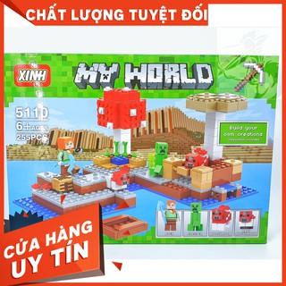 [Hot] Lego XINH 5110 MineCraft – My World Xây Dựng Đảo Nấm Độc – XINH 5110 ( 255 Mảnh )- Hàng Có Sẵn