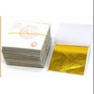 Set 100 Lá Dát Vàng/ Dát Bạc Nguyên Liệu Làm Slime