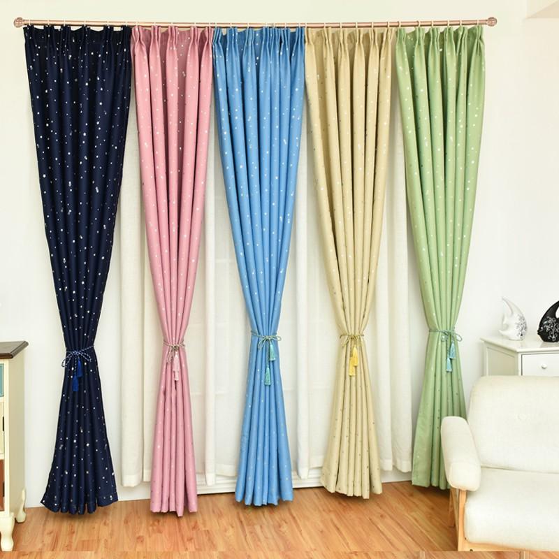 Rèm Màn Cửa Họa Tiết Sao Sáng Lấp Lánh che nắng trang trí phòng ngủ, khách, cửa sổ phong cách Hàn Quốc
