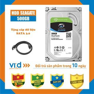 Ổ cứng HDD 500GB Seagate skyhawk - Tặng cáp SATA 3.0 - Hàng tháo máy đồng bộ nhập khẩu mới 98% - Bảo hành 12 tháng