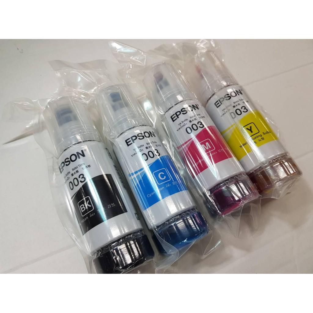 หมึกเติม Epson 003 1ชุด4ขวด 4สี ของแท้100 %(ไม่มีกล่อง)