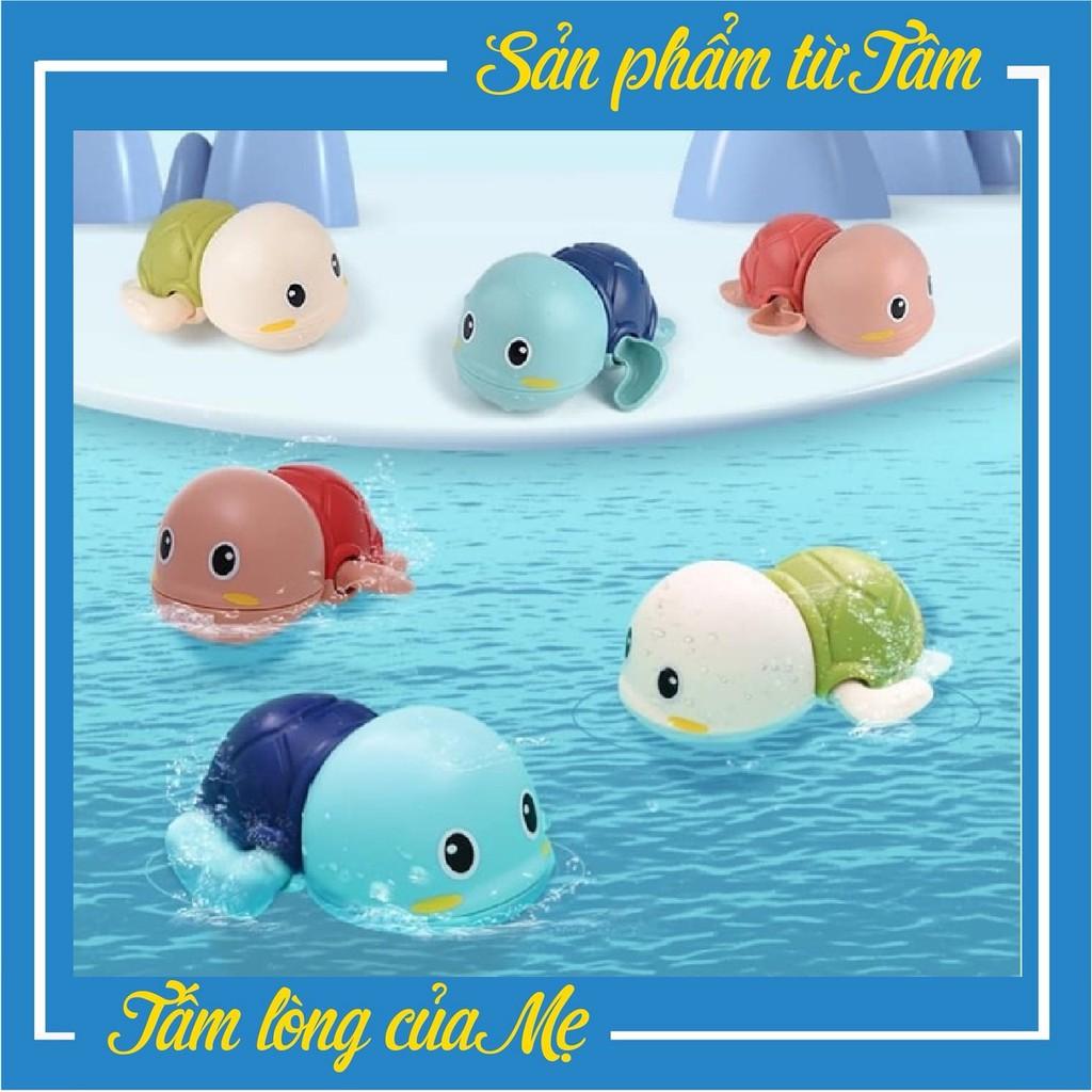 Đồ Chơi Bồn Tắm - Chú Rùa Nổi Vặn Cót Dễ Thương Biết Bơi Cho Bé