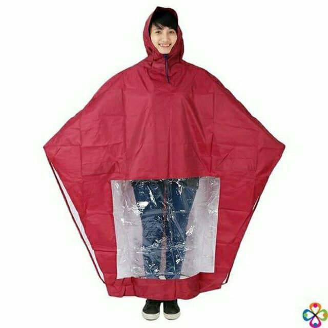 Áo mưa vải dù - Áo mưa trùm đi xe máy che chắn cực tốt Áo mưa