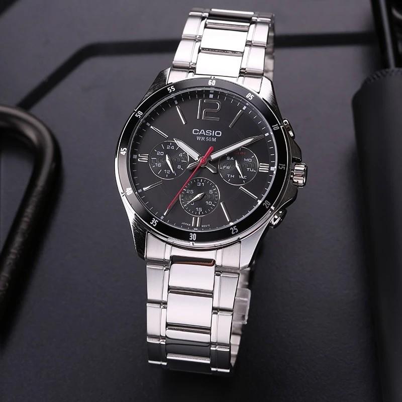 Đồng hồ nam dây kim loại Casio MTP-1374D-1AVDF chính hãng
