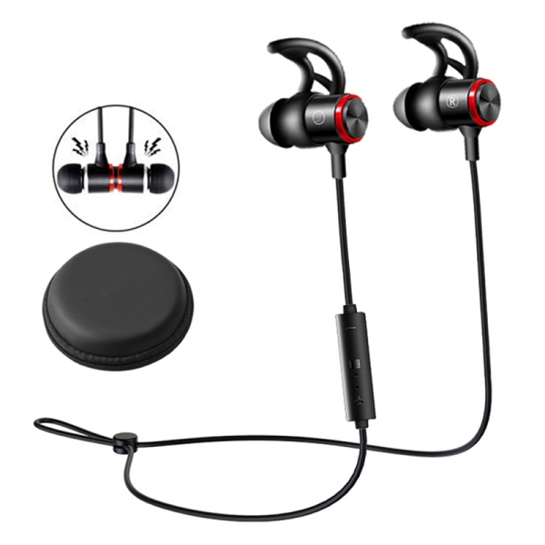 Magnetic Neckband Sports Bass Headset E3B Wireless Bluetooth V5.0 Headphone Stereo Earphone