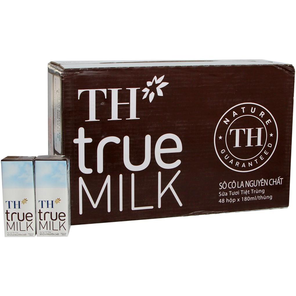 Sữa Tươi Tiệt Trùng TH True Milk Socola Hộp 180ml (Thùng 48 hộp)