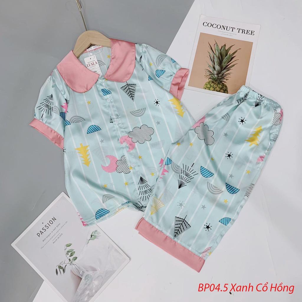Mặc gì đẹp: Thoải mái với Đồ Ngủ Pijama Lụa Satin Tay Ngắn Quần Lửng Siêu Xinh, Mềm Mịn, Sang Chảnh Boody BP04.6