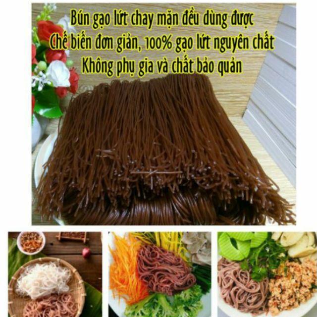 Bún gạo lứt huyết rồng Organic Eatclean ko chất bảo quản, ko chất phụ gia