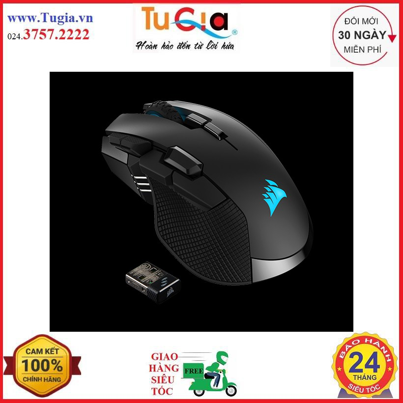 [Mã SKAMPUSHA7 giảm 8% đơn 250k]Chuột Corsair Iron Claw RGB Wireless - 18K DPI (CH-9317011-AP)