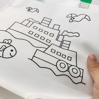 Túi xách tô màu vẽ bằng vải dệt cho bé đồ chơi Simbaba cho trẻ em 3-5 tuổi tập tô màu sáng tạo 5