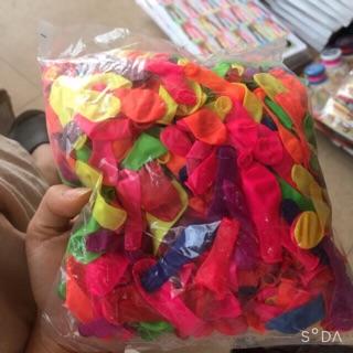 Bịch bóng nhí đủ 500 quả các màu trang trí, bóng nước