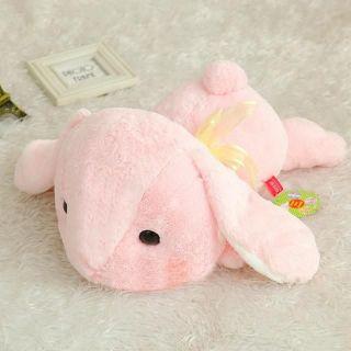 Gấu bông thỏ màu hồng mềm mịn