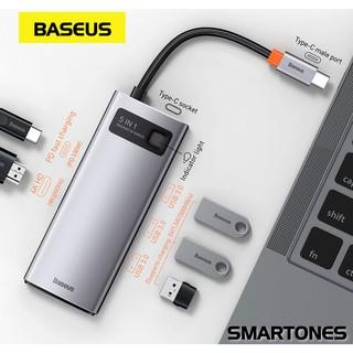 Bộ USB Hub type C Baseus Gleam 5 in 1 mở rộng USB 3.0, HDMI 4K cho laptop, và điện thoại