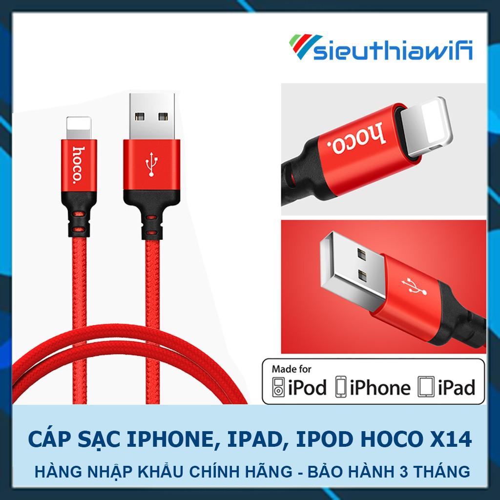 CÁP SẠC HOCO X14 LinghtNing Cho IPHONE, IPAD , IPOD [ H4-7 ]