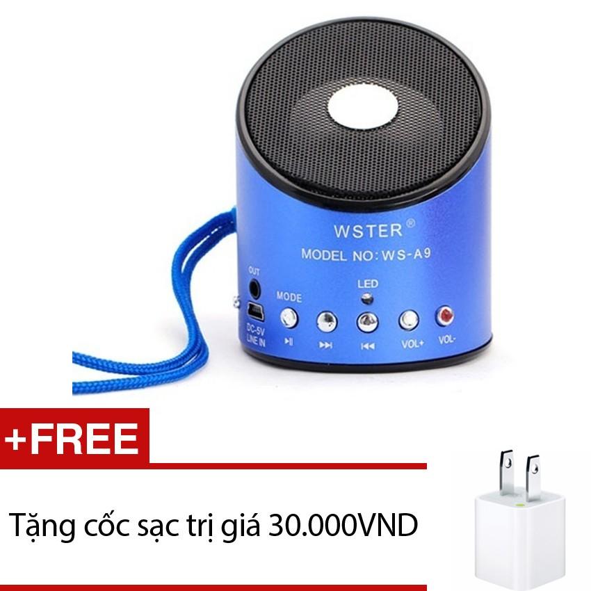 Loa di động Wster WS A9 (Xanh) + Tặng 1 cốc sạc - 2503664 , 109976980 , 322_109976980 , 126000 , Loa-di-dong-Wster-WS-A9-Xanh-Tang-1-coc-sac-322_109976980 , shopee.vn , Loa di động Wster WS A9 (Xanh) + Tặng 1 cốc sạc