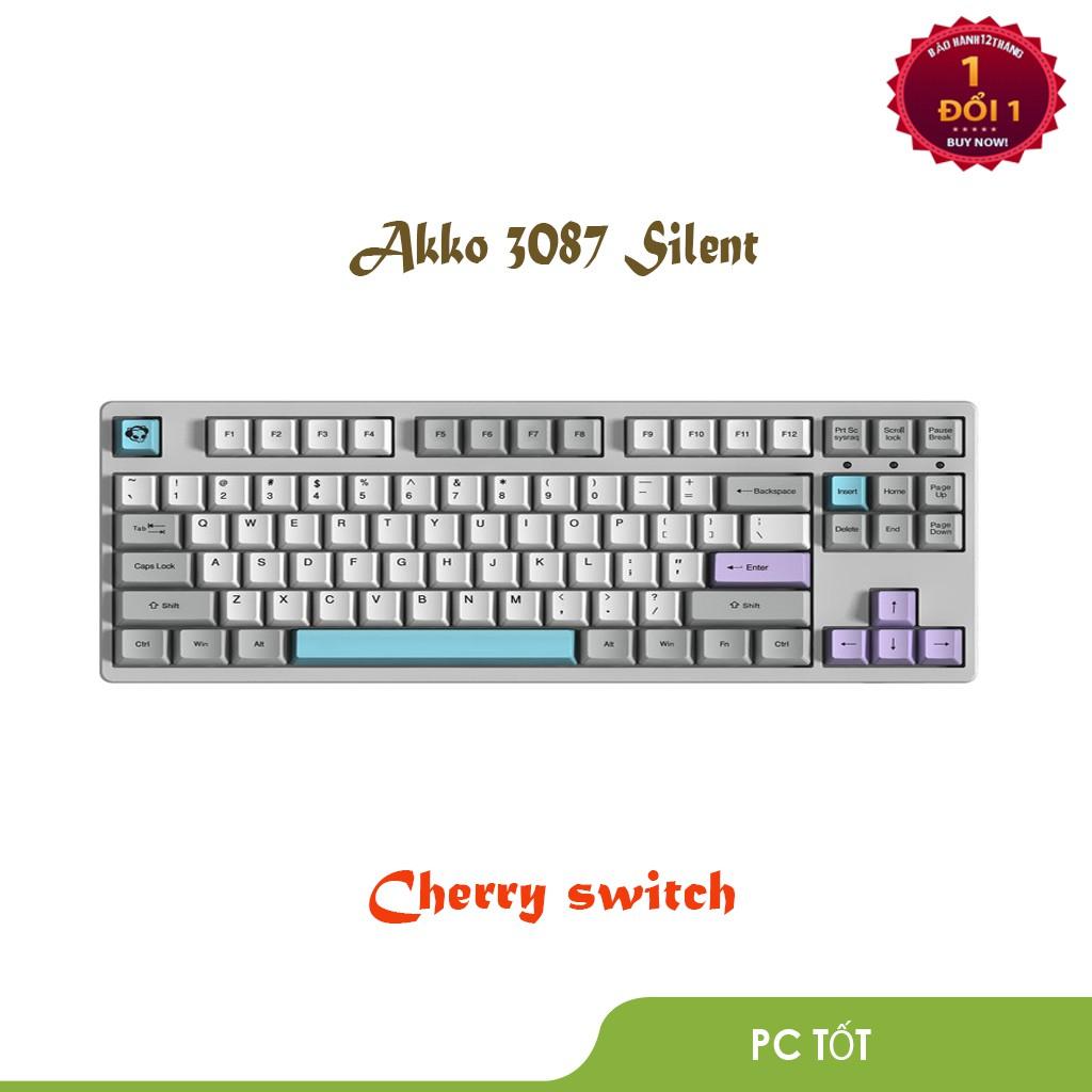 Bàn phím cơ AKKO 3087 Silent (Cherry switch) - Bảo hành 1 đổi 1