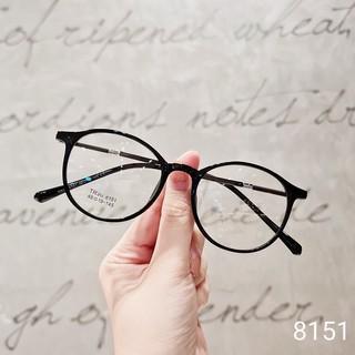 [Nhận Cắt Tròng Cận, Loạn, Viễn] Gọng Kính Cận Nhựa Dẻo Form Dáng Tròn 8151 – Moss Eyewear