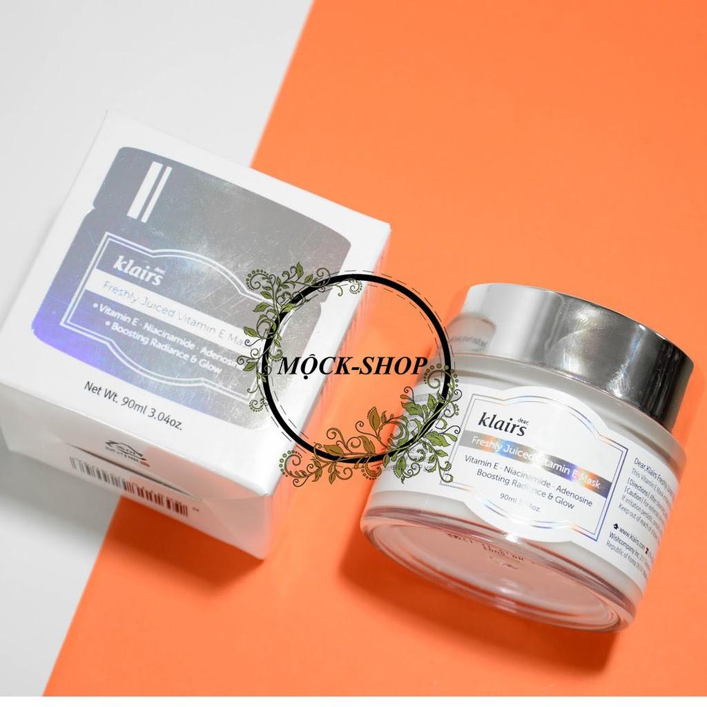 Mặt Nạ Ngủ & Kem Dưỡng Ẩm, Dưỡng Sáng Da Klairs Freshly Juiced Vitamin E