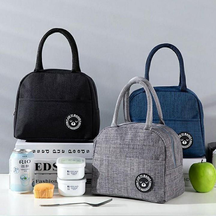 Túi giữ nhiệt đựng đồ kiểu nhật có kéo khóa