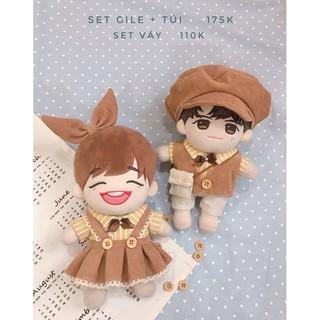 Outfit doll 20cm – 15cm – IDV – Set nâu