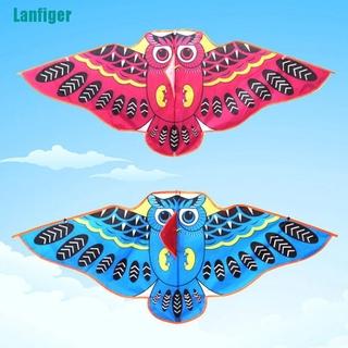 【Lanfiger】1Pc Cartoon owl flying kite foldable outdoor kite children kids sport toys