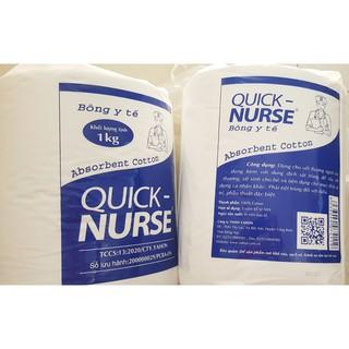 Bông gòn y tế QUICK NURSE - 1kg chuyên dùng trong spa,bênh viện thumbnail