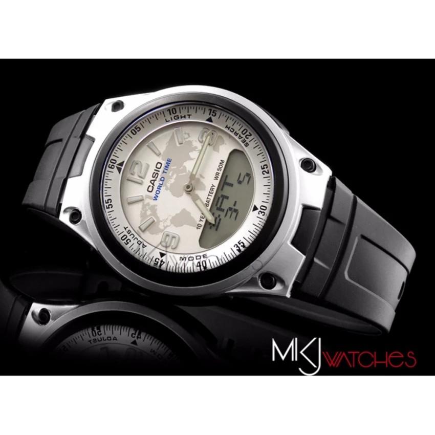Đồng hồ nam dây nhựa Casio chính hãng Anh Khuê AW-80-7A2VDF