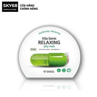Mặt nạ dưỡng da giúp thư giãn và phục hồi làn da mệt mỏi BNBG Vita Genic Relaxing Jelly Mask(Vitamin B) 30ml