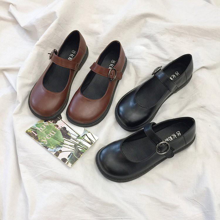 Giày Mary Janes ba màu ( FORM RỘNG LÙI 1 S