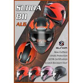 Mũ bảo hiểm SUNDA 811 tem AL6 đen