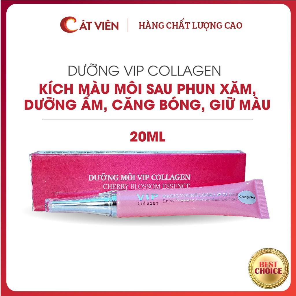 Son dưỡng VIP Collagen, son bóng kích màu môi, dưỡng ẩm môi, thích hợp sử dụng sau phun xăm, môi khô nhăn, môi thâm