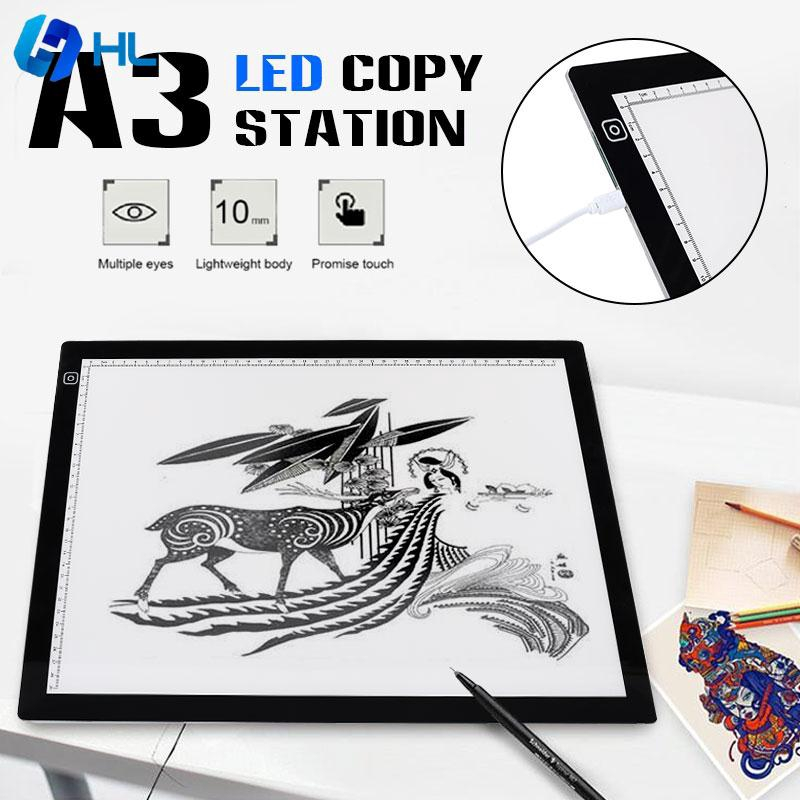 ❤HL Drawing Tablet Tracing Board Cartoon Light Box A3 Multifunctional LED Giá chỉ 710.336₫