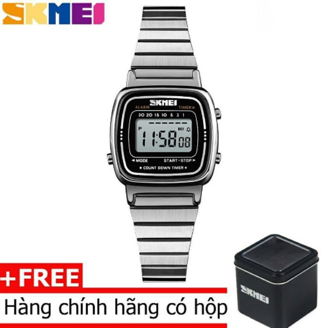 (CHÍNH HÃNG- Quà Tặng 3 Món) Đồng Hồ Nữ mặt số điện tử Skmei DO53 Dual time Digital Watch - 3067407 , 1163006284 , 322_1163006284 , 300000 , CHINH-HANG-Qua-Tang-3-Mon-Dong-Ho-Nu-mat-so-dien-tu-Skmei-DO53-Dual-time-Digital-Watch-322_1163006284 , shopee.vn , (CHÍNH HÃNG- Quà Tặng 3 Món) Đồng Hồ Nữ mặt số điện tử Skmei DO53 Dual time Digital W