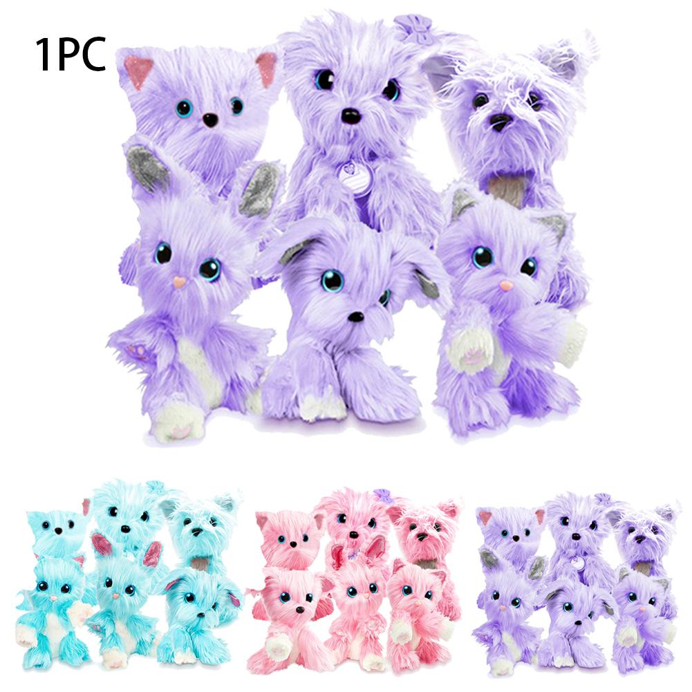 Christmas Little Live Cute Pomsies Kids Gifts Doll Toy Plush Pet Rescue Soft Interactive