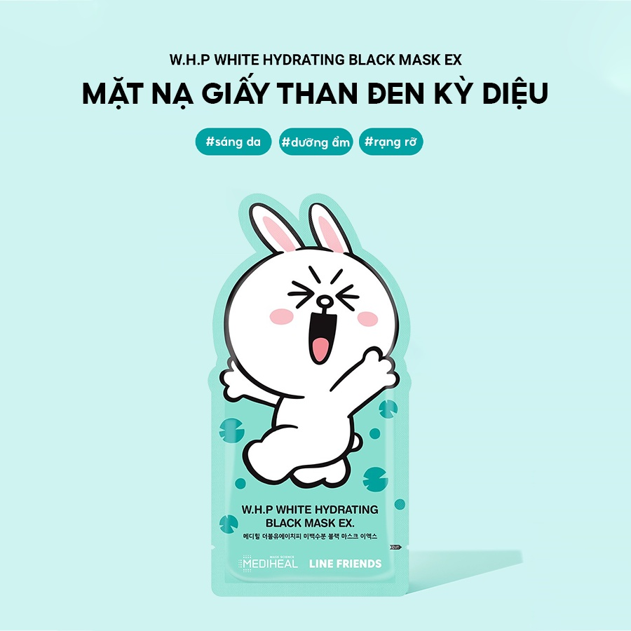 Line Friends THỎ W.H.P White Hydrating Black Beauty Mask EX