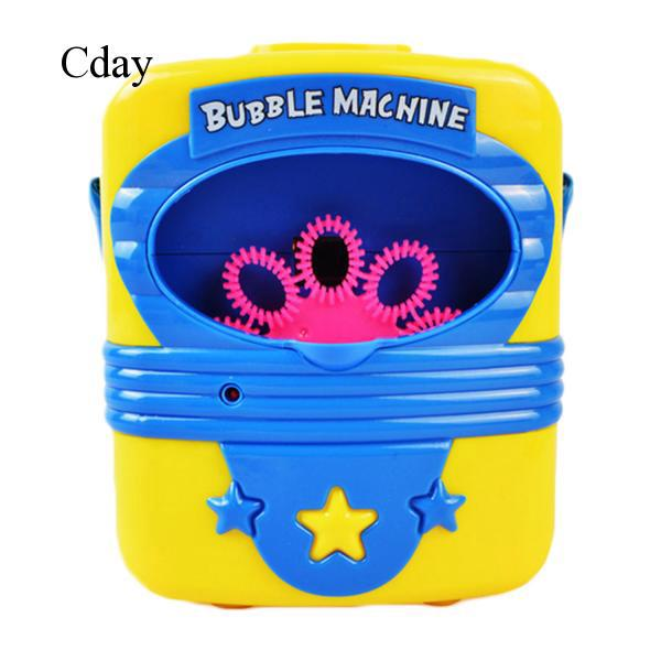 Kids Children Automatical Handy Bubble Blowing Toy Machine Gift For Children Day