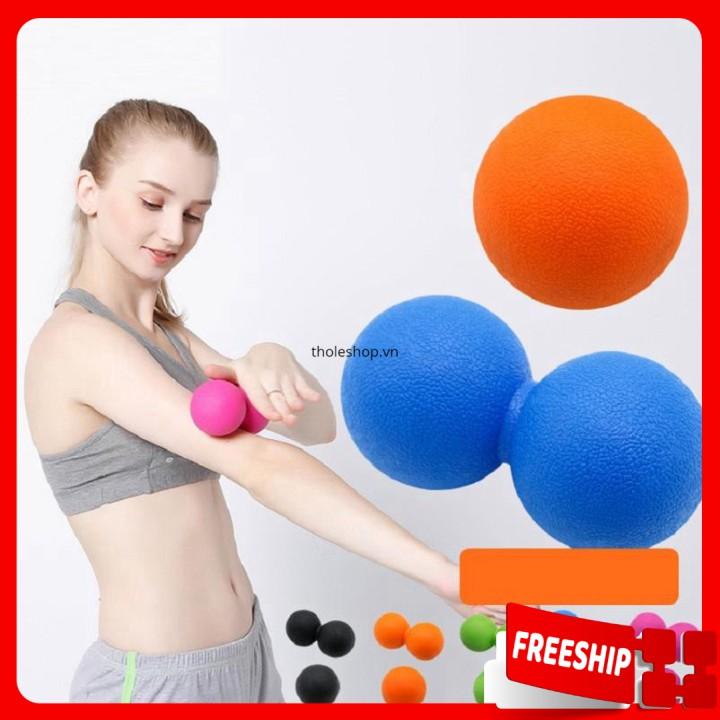 Bóng đôi massage 1 ĐỔI 1  Quả bóng massage con lăn, bóng massage thư giản 9141
