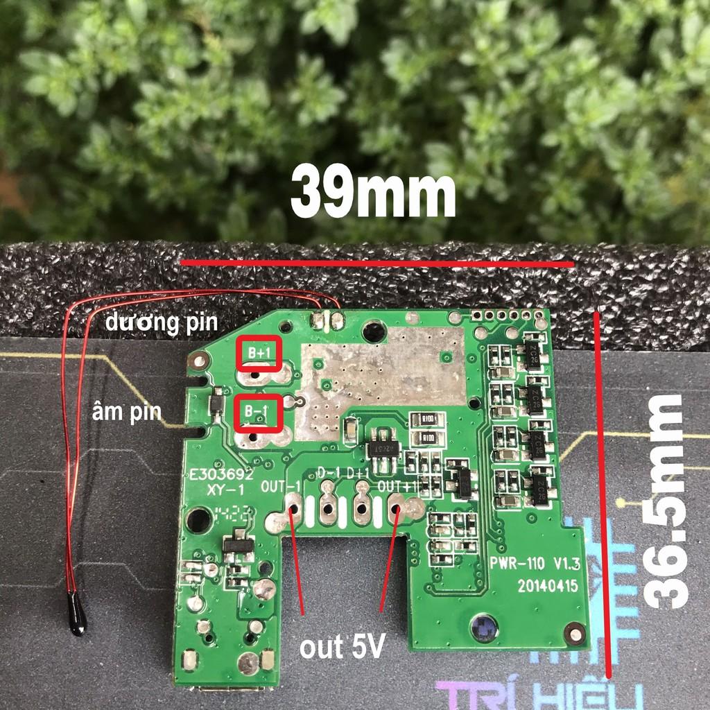 Mạch sạc và báo dung lượng pin 1S, kiêm tăng áp 5V