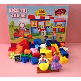 Bộ lego lắp ráp siêu thị cho bé
