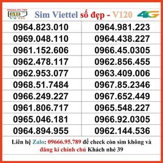 Sim Viettel V120 đầu 09 số đẹp giá rẻ 39 [HOT]